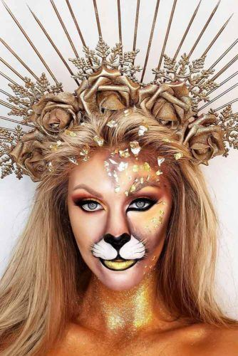 Lion With Crown #halloweenhairstyles #longhair