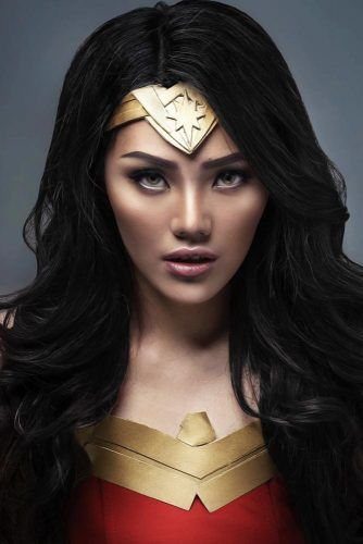 Wonder Woman Waves #halloweenhairstyles #longhair