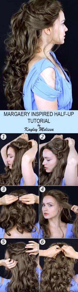 Margaery Tyrell Half Up Tutorial