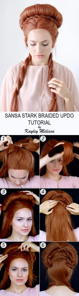 Sansa Stark Rope Braided Updo Tutorial