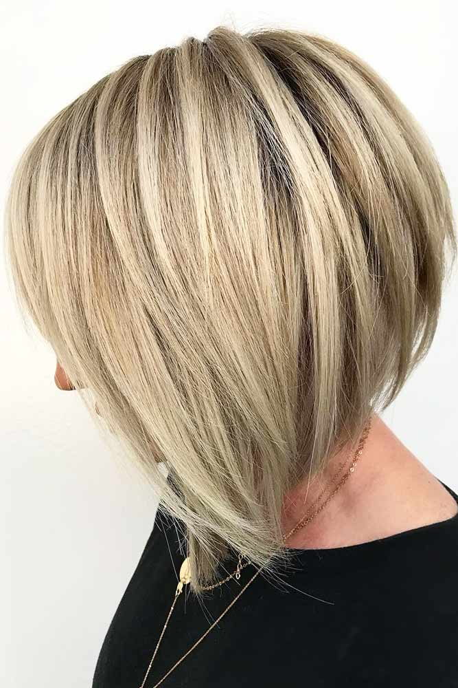 Sleek Layered Cut #layeredhair #bob