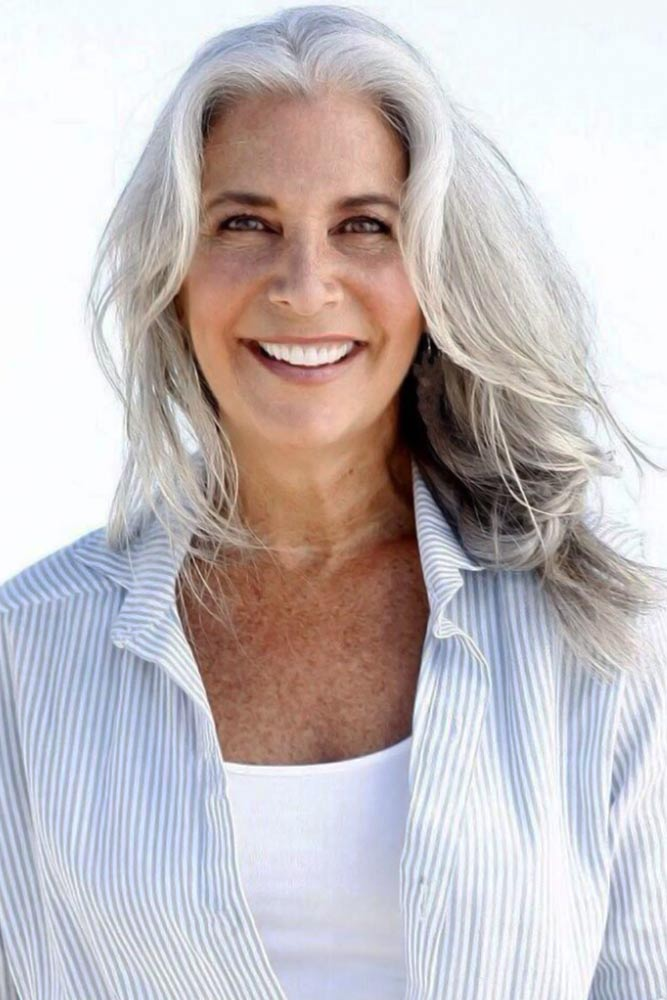 Bouncy Waves #hairstylesforwomenover50
