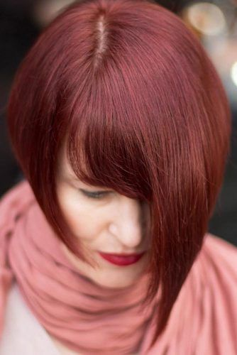 Cherry Layered Bob #bob #shorthair