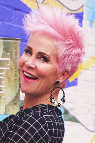Thin Hair Edgy Styling #pixie #layeredhair #pinkhair