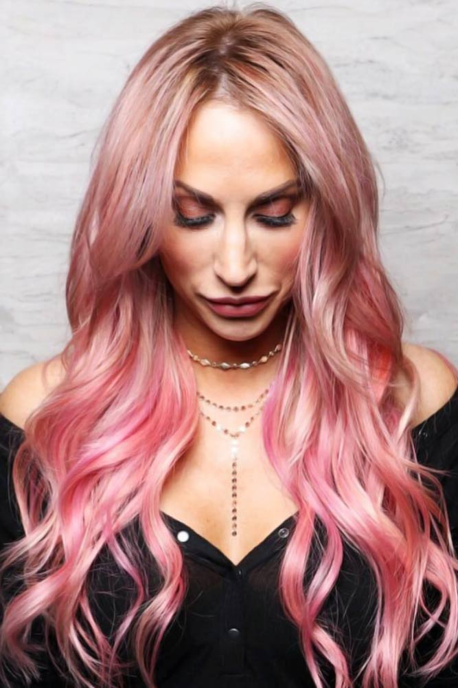 Rose-Gold Ombre #hairstylesforwomenover50