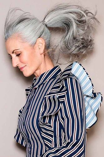 Another great way to sport long layered hairstyles for women over 50 is a stylish and fun updo! Why not pull your gorgeous salt and pepper or silvery locks ...