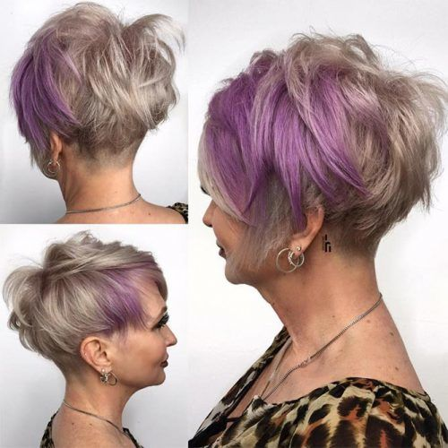 Purple Short Pixie Cut #pixie #layeredhair