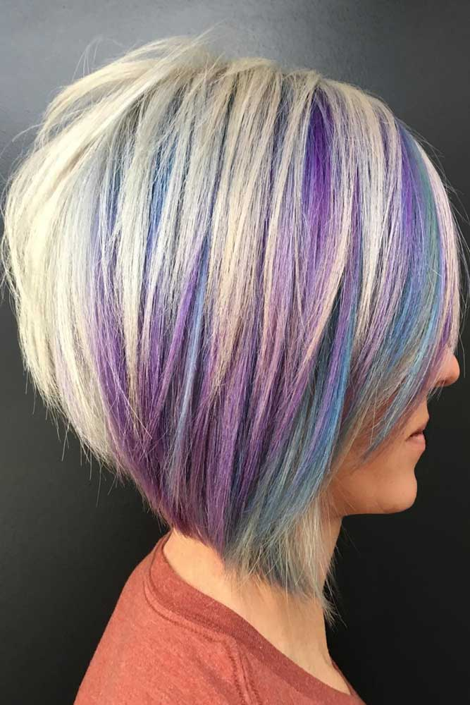 Unicorn Locks For Gray Hair #bob #layeredhair #shorthair