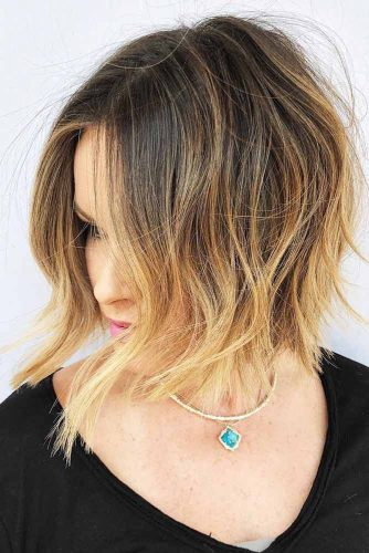 Short Shaggy Cut for Thin Hair #thinhair #wavyhair #bob