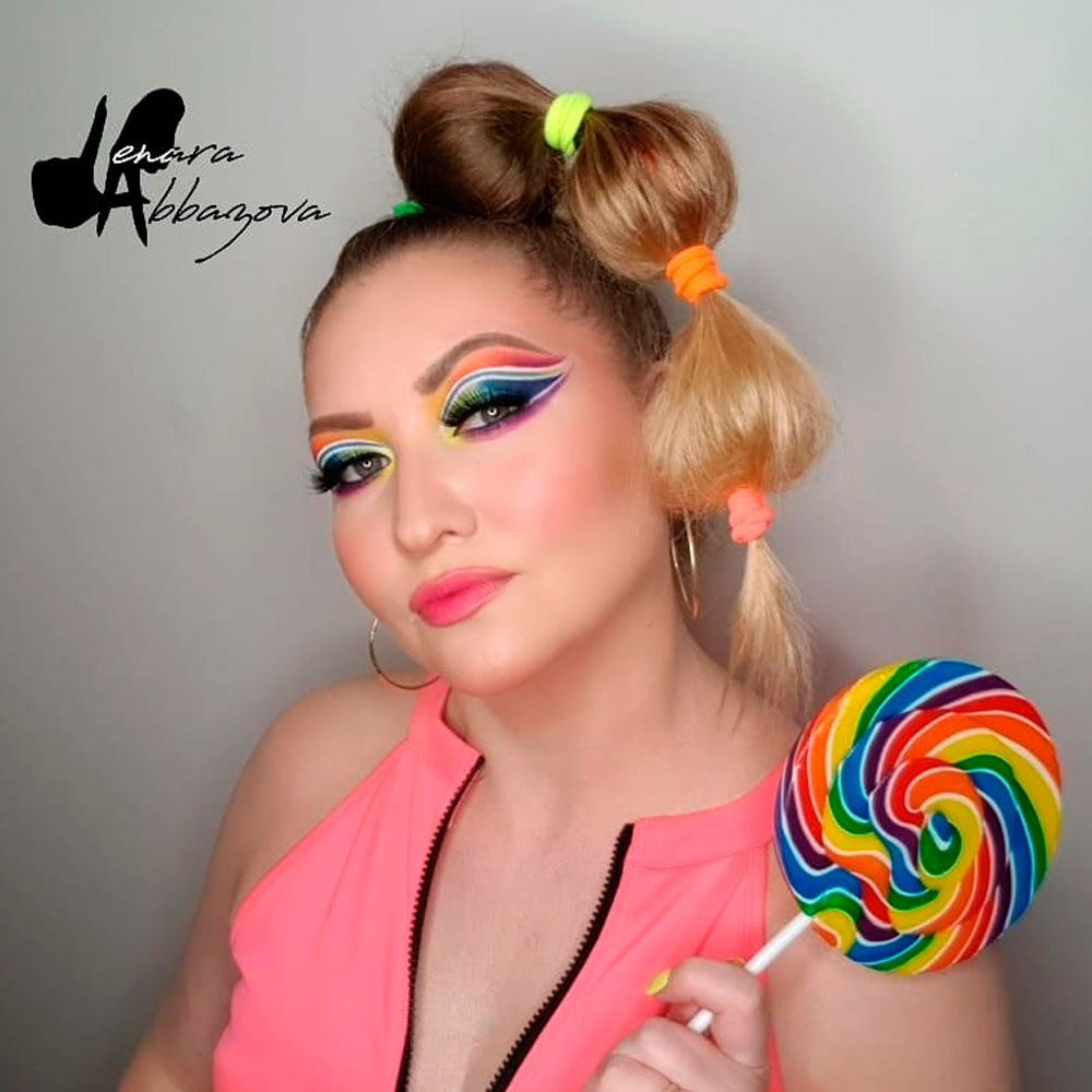 Candy Girl Look With Bubble Ponytail