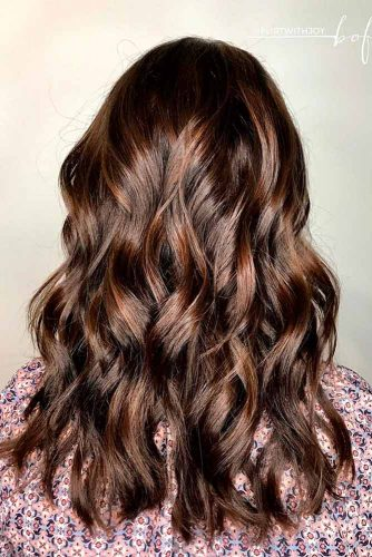 Silky Highlights for Dark Brown Hair picture1