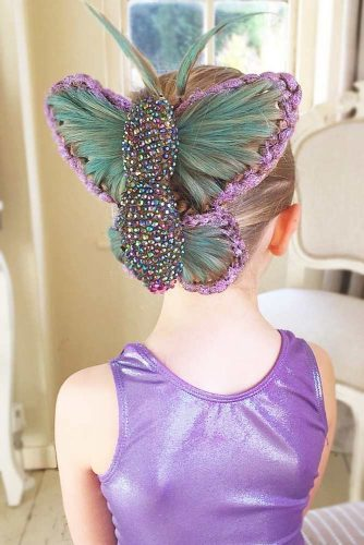 Little Fairy Hairstyles Braided Updo #haloweenhairstyles #braids #updo