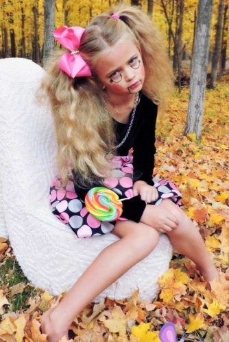Horror Halloween Hairstyles For Girls Ponytails #haloweenhairstyles#ponytaills