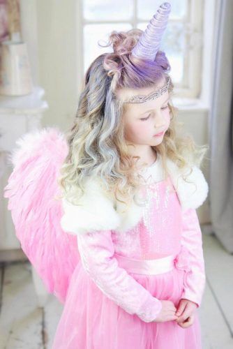 Unicorn Hairstyles Half-Up #haloweenhairstyles #half-up
