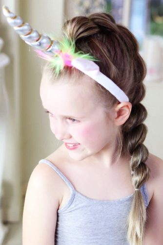 Unicorn Hairstyles Twisted Braid #haloweenhairstyles #braids