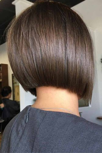 Straight Short Inverted Bob #shorthaircuts #shorthairstyles #shortbob