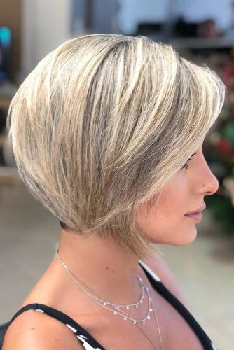 Blonde Straight Short Bob Haircuts #shorthaircuts #shorthairstyles #shortbob