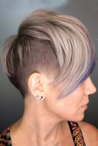 Undercut With Long Layered Bang #shorthaircuts#shorthairstyles #undercut