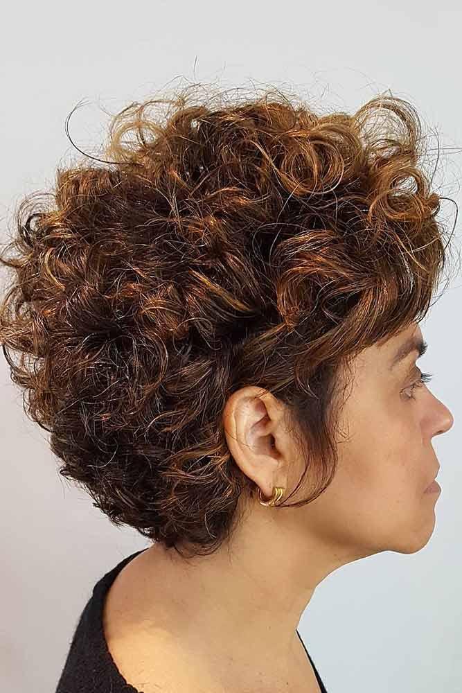 Long Curly Pixie #haircutsforwomenover50 #shorthaircuts