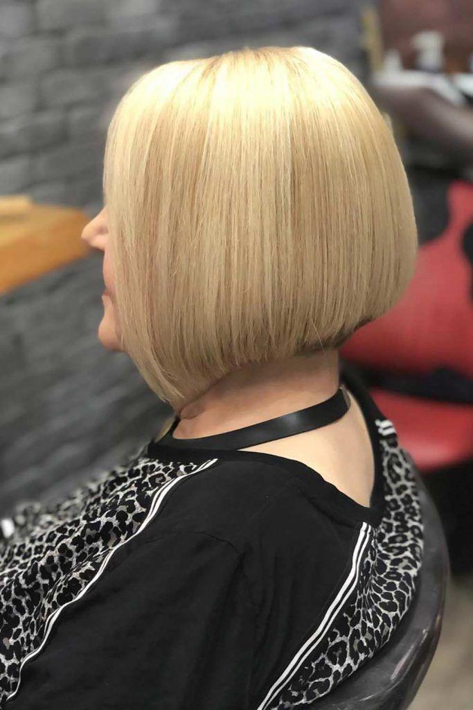Short Bob Haircuts Blonde #shorthaircuts #haircutsforolderwomen