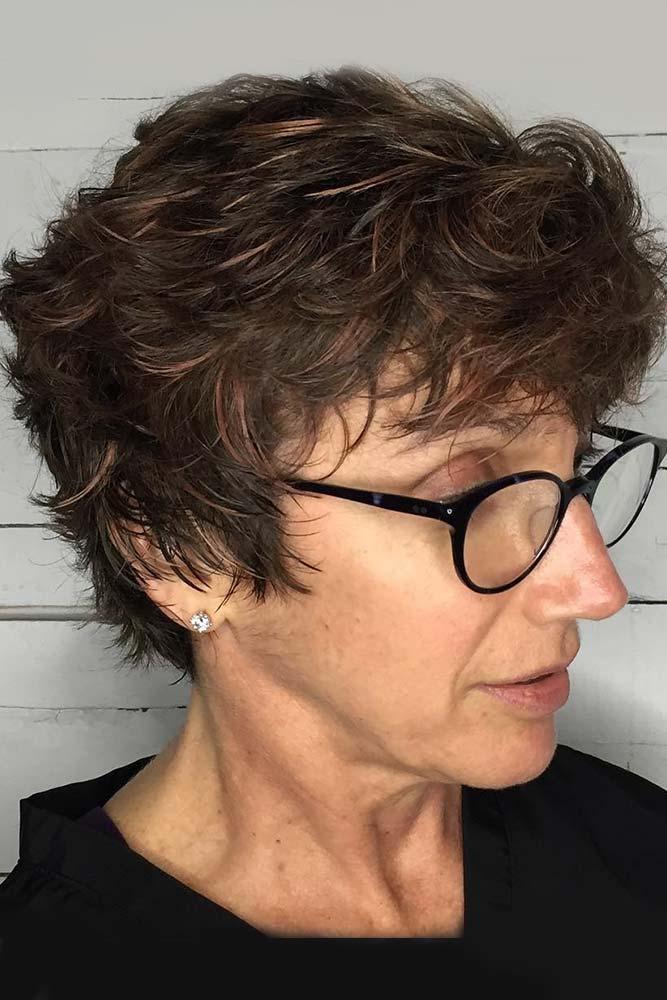 Multi Layered Short Short Haircuts For Older Women