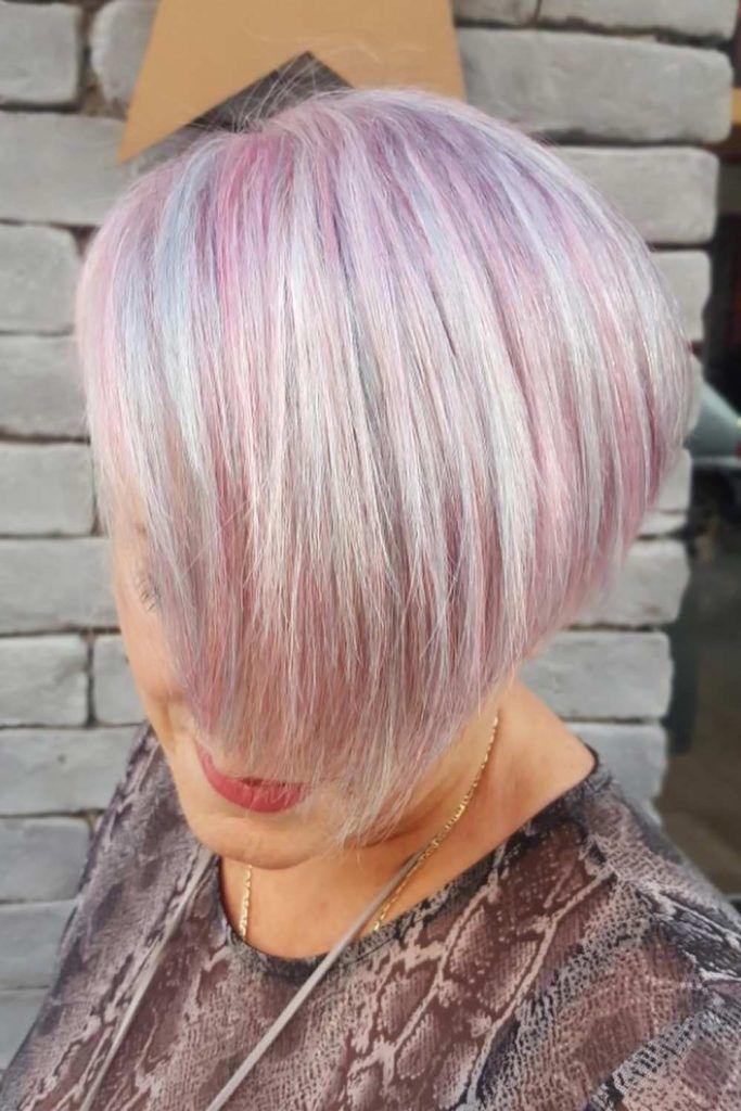 Short Bob Haircuts Pink #shorthaircuts #haircutsforolderwomen