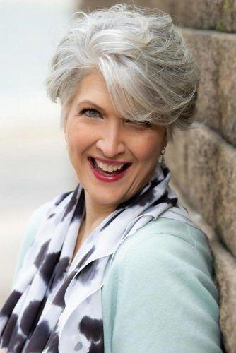 Long Pixie Cuts Grey #shorthaircuts #haircutsforolderwomen