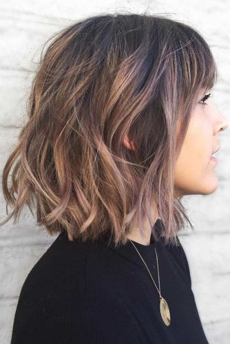 Wavy Bob With Bangs #bangs #bob #wavyhair