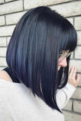 Sleek Lob with Bangs picture1