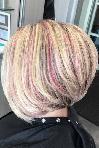 Colorfull A Line Haircuts picture 5