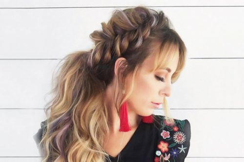 Cute Casual Versions of a Ponytail with Bangs
