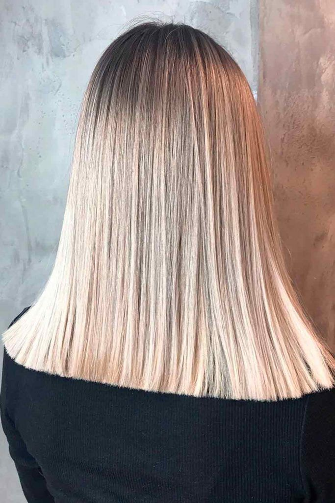 Champagne Blonde Ombre For Straight Hair #shtaighthai #ombrehair