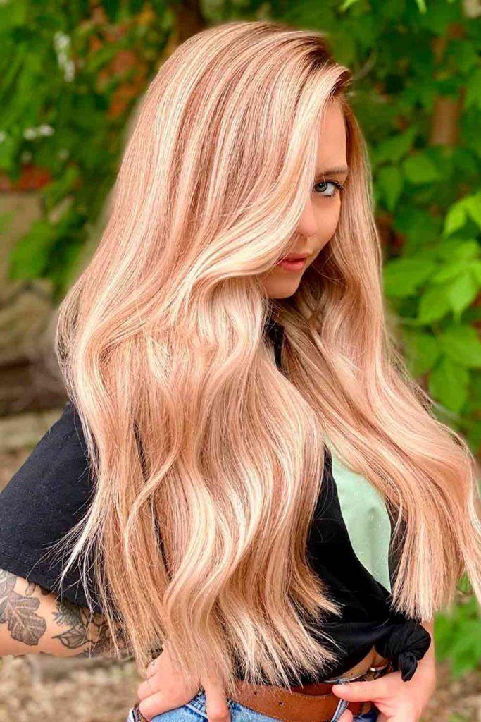 Gold Blonde Balayage #goldblond #goldblondehair
