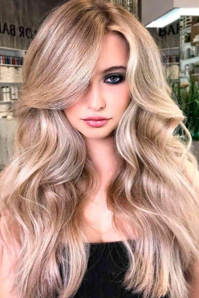 Ash Blonde Balayage For Long Hair #ashblonde #ashhair
