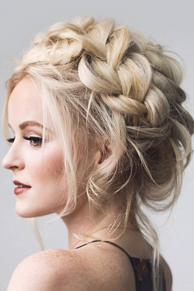 Crown Braided Hairstyles For Long Hair To Look Like A Queen
