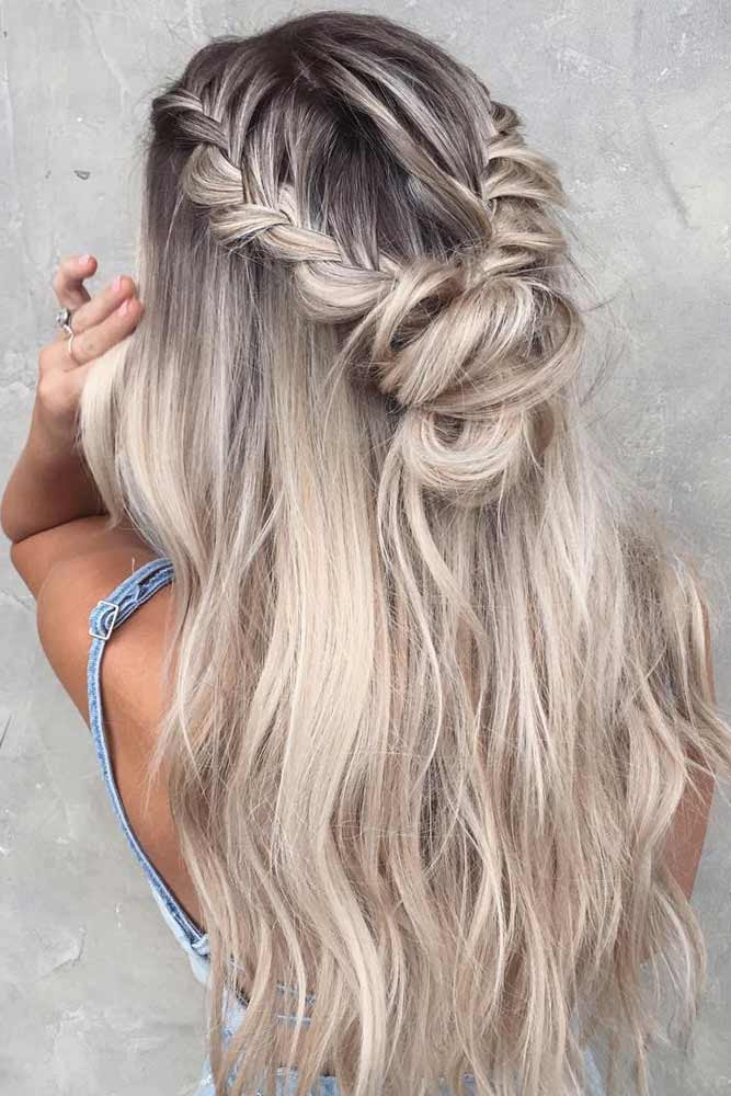 Half Up Half Down Braided Hairstyles for Long Hair picture3