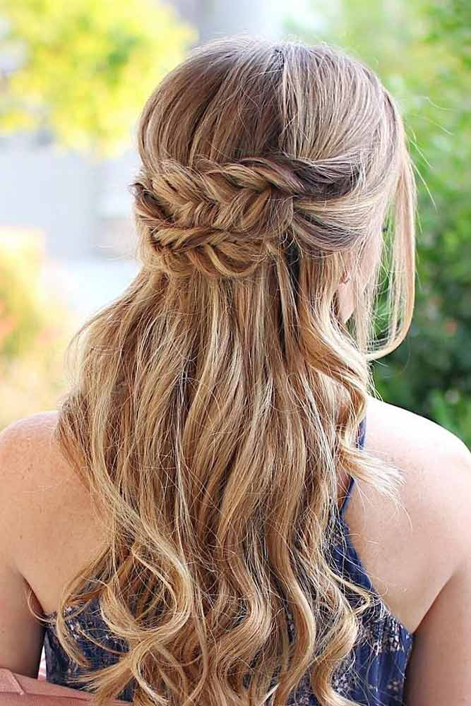 Half Up Half Down Braided Hairstyles for Long Hair picture1