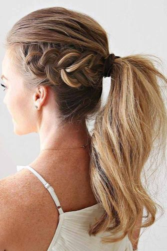 Attractive Combo Braids and a Ponytail picture3