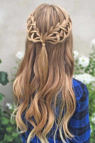 Half Up Half Down Braided Hairstyles for Long Hair picture2