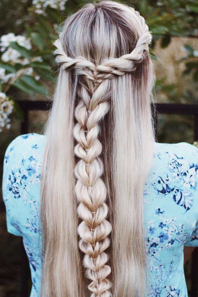 Half Up Half Down Braided Hairstyles For Long Hair Crown #braids #longhair
