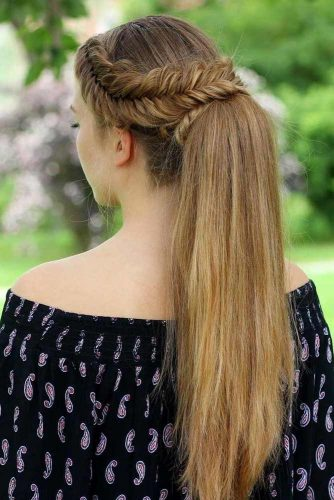 Attractive Combo Braids and a Ponytail picture1
