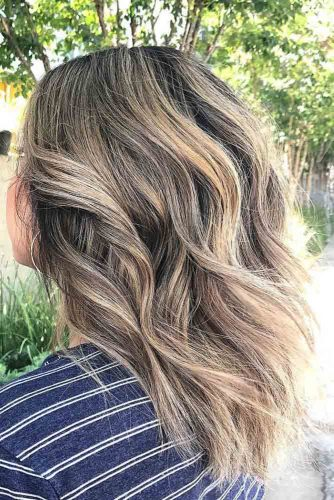 Cute Blonde Highlights on Natural Brown Hair