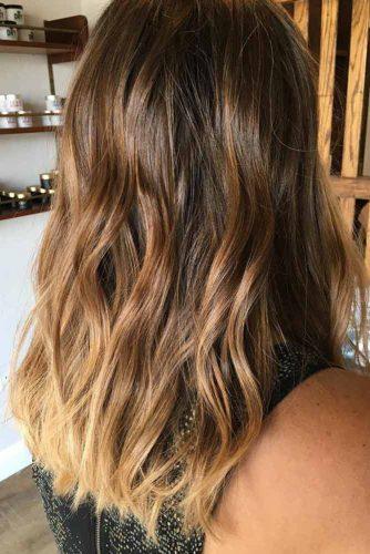 Warm Blonde Colors on Brown Hair