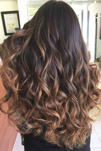 Beautiful Caramel Highlights on Brown Hair