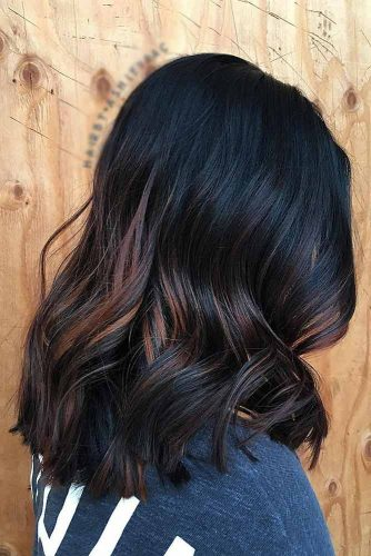 Dark Chocolate Hair Color with Copper Hues