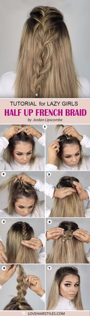 Half Up French Braid