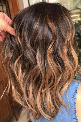 Glory Dark Brown Hair With Copper Hue Highlights #brownhair #highlights