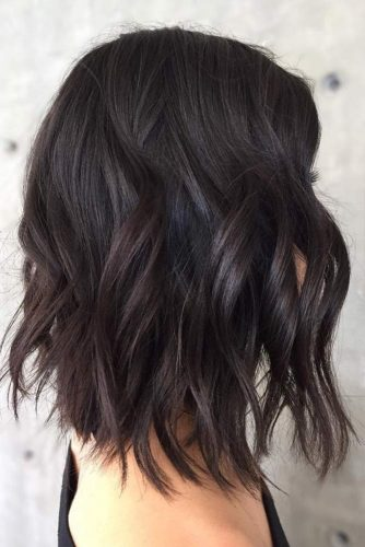 Solid Dark Brown Colored Bob