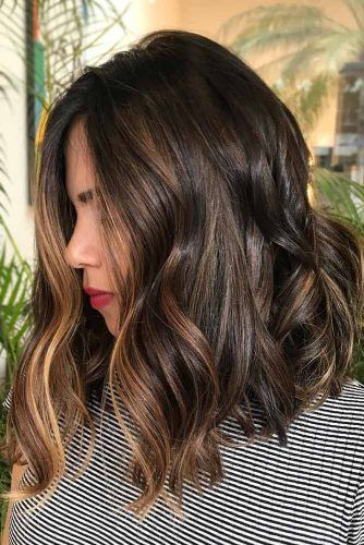 Dark Brown Hair With Honey Face Framing Highlights #brownhair #highlights