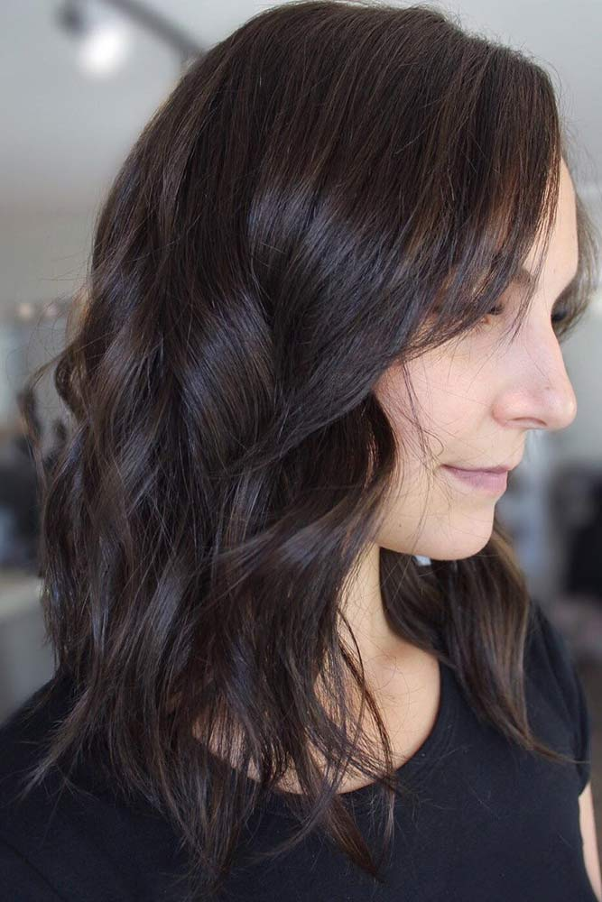 Textured Brunette Hair